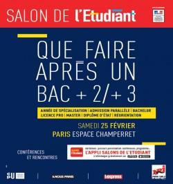 SALON DE L'ETUDIANT « QUE FAIRE APRÈS UN BAC +2/+3 ? »