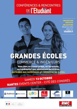 NANTES - LES CONFÉRENCES ET RENCONTRES DE L'ETUDIANT « SPÉCIAL GRANDES ÉCOLES »