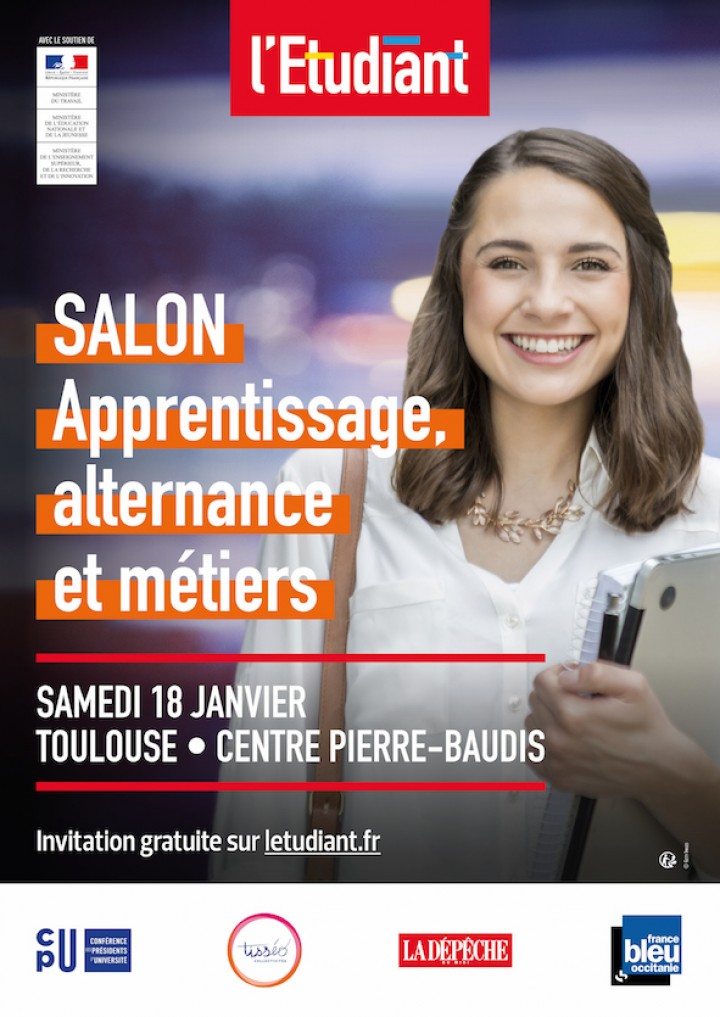 TOULOUSE - SALON APPRENTISSAGE, ALTERNANCE & METIERS - 18 JANVIER 2020